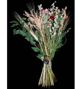 Bouquet fleurs séchées.