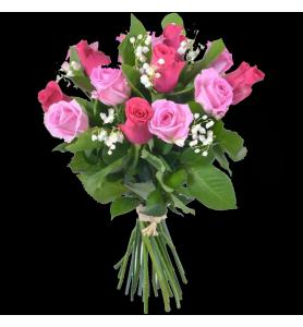 Bouquet   de rose rose avec...