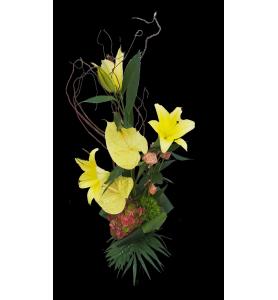 Bouquet linéaire lys et...