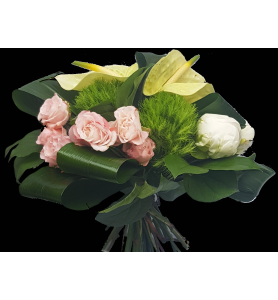 Bouquet pivoine blanche...