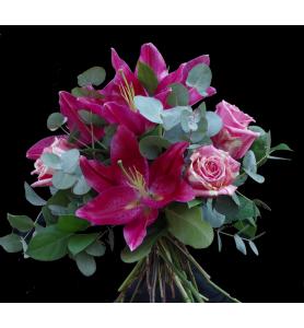Bouquet lys rose et fiesta